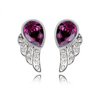 Angel's Wings Earrings with Swarovski Elements