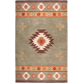 Rizzy Rugs Southwest Green Rug & Reviews | Wayfair
