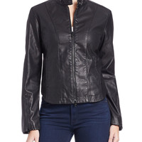 Faux Leather Moto Jacket | Lord and Taylor