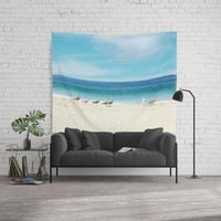 wave watching Wall Tapestry by sylviacookphotography