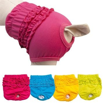 Quality Cute Pet Dog Panty Brief Bitch In Season Sanitary Pants For Girl Female candy color drop shipping