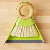 Full Circle Mini Dustpan + Brush Set- Green One