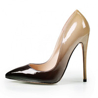 New Women Pumps Shoes High Heels 12CM Luxury Designer Patent Leather Wedding Bridal Shoes Sexy Women's Shoes With Heels B-0052