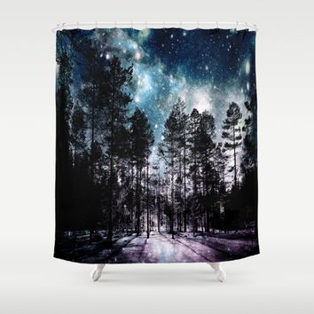 One Magical Night...(teal & lavender) Shower Curtain by 2sweet4words Designs