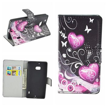 DCCKHY9 Cute flower Flip Leather Wallet Phone Cases For microsoft Nokia Lumia 650 640 Lite 630 635 535 930 950 XL 520 Cover case