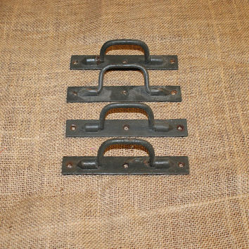 Vintage Shutter Handles, Set of 4, Old Handles, C46