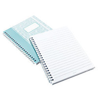 See Jane Work Spiral Notebook 5 34 x 7 34 Wide Ruled 80 Sheets Blue Herringbone by Office Depot