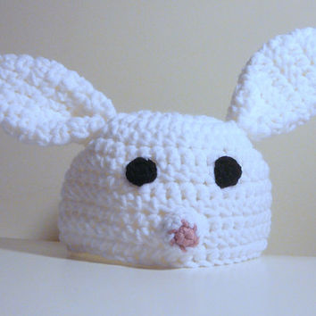 Bunny Rabbit Hat PDF Crochet Pattern - Newborn to Adult INSTANT DOWNLOAD