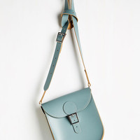 Vintage Inspired Tasteful in Transit Bag in Dusty Blue by Brit-Stitch from ModCloth
