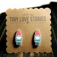 Garden Gnome Earrings by Tiny Love Stories