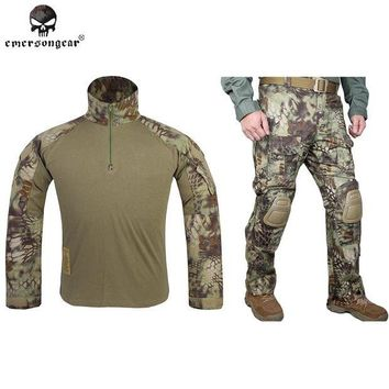 DCCK7N3 Hunting clothes Emersongear G3 Combat uniform shirt  Pants with knee pads Airsoft Emerson Military Camouflage Mandrake