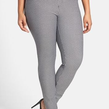 Plus Size Women's MICHAEL Michael Kors 'Ashford' Houndstooth Leggings,