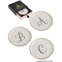 Monogram Letter Trinket Dishes