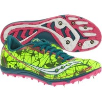 Saucony Women's Shay XC4 Spike Track and Field Shoe - Volt/Pink | DICK'S Sporting Goods