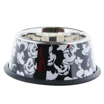 Disney SS Black & White Mickey Dog Bowl - Stainless Steel - Bowls & Feeding Accessories - PetSmart