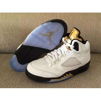 Air Jordan 5 Retro ¡°Olympic¡± Mens Basketball Shoes-1