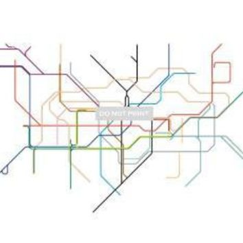 LONDON SUBWAY MAP  LINE ART   85 x 11 PRINT by dualhabit on Etsy
