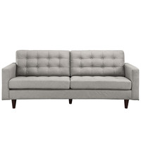 Empress Upholstered Sofa Light Gray