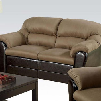 Connell Saddle Microfiber Loveseat 15141