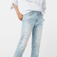 Relaxed crop Cigar jeans