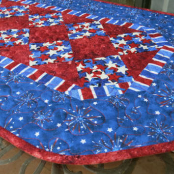 Table Runner Americana Patriotic 607 Stars & Stripe