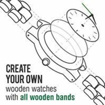 Create Your Own All Wooden Strap Watch
