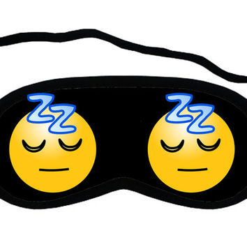 Sleping emoticon Sleep Mask for your Sleeping.
