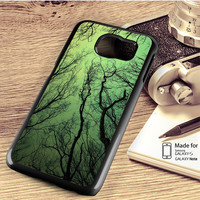 Green Sky Forest Tree Branches Samsung Galaxy S4 S5 S6 Edge Plus S7 Edge Case Note 3 4 5 Edge Case