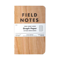 Field Notes Cherry Wood Graph 3-Pack
