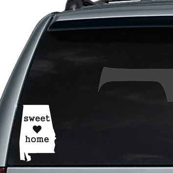 Sweet Home Alabama State Home Decal / I love Alabama Decal / Alabama Car Decal / Alabama Laptop Decal