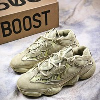 Adidas Kanye West Yeezy 500 Season 6 Runner Beige B17562 Sport Running Shoes - Best Online Sale