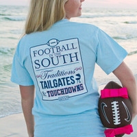 Football in the South Tee {light blue}