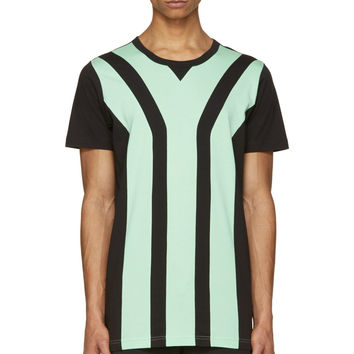 Y-3 Black And Green Paneled Y T-shirt