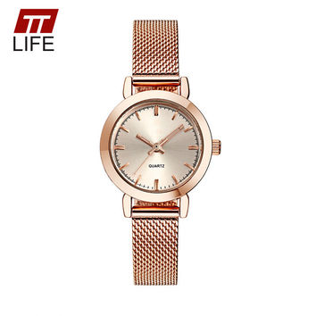 TTLIFE Women's Watch Ultra Thin Stainless Steel Quartz Watch Lady Casual Hours Bracelet Watches Women Lover's Female Clock Gift
