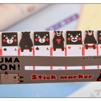 120 sheets sticky Post it Note - kumamon sticky note, black bear