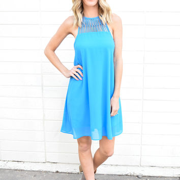 Out On The Town Blue Dress