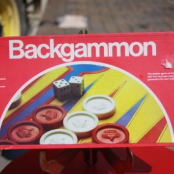 Pressman Vintage Backgammon NIB Family Puzzle Board Game