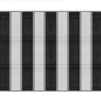 Camco 42873 Reversible Outdoor Mat (6' x 9', Charcoal Stripe)