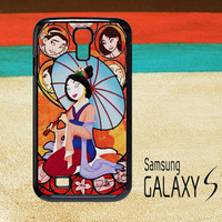 Mulan Stained Glass Cover Samsung Galaxy S3 S4 Case
