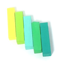 Green Shades Set of 5 - PREMIUM HAIR CHALK - Temporary Hair Color - Free Gift Box - Gifts Under 15
