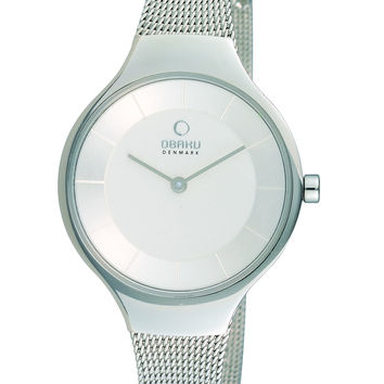 Obaku Ladies' Watch Silver Mesh V166LXCIMC