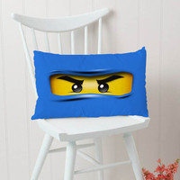 Blue Ninjago Lego Kids Pillow Cases Pillow Cases Rectangular Pillow Cover, Pillow Case, Cushions Pillow Cover, Home Decor Pillow, Bed Pillow