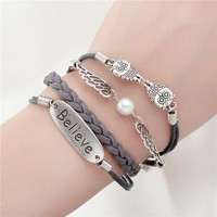 Leather Infinity Bracelets (Owls, Birds, Anchors, & More)