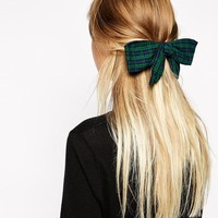 ASOS | ASOS Tartan Print Hair Bow at ASOS