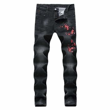 Mens Biker Denim Pants