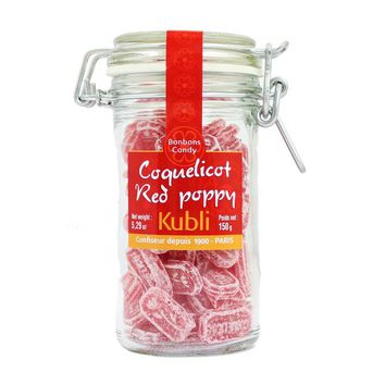 Kubli Red Poppy Coquelicot Hard Candy, 5.29 oz (150 g)