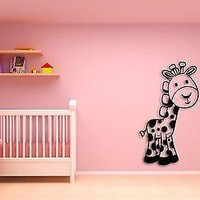 Wall Sticker For Kids Baby Giraffe Cool Decor for Nursery Room Unique Gift z1402