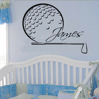 Golfer Wall Decals Sport Boy Golf Player Custom Personalized Name Vinyl Decal Sticker Home Art Mural Kids Bedroom Baby Nursery Decor KG831