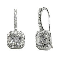 Maribel Radiant Cut Drop Earrings | 4.5ct | Cubic Zirconia | Silver