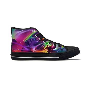 Soul Spill by Brian Scott - High Top Canvas Shoes
